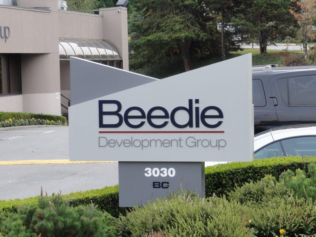 Beedie Freestanding pylon sign
