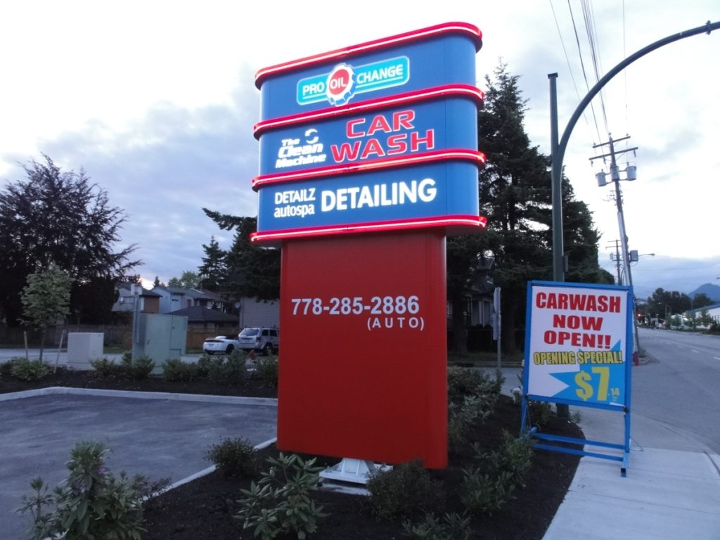 Detailz autospa freestanding pylon sign