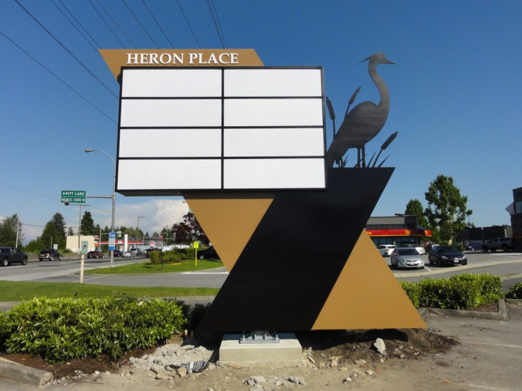 Heron Place Free standing pylon sign