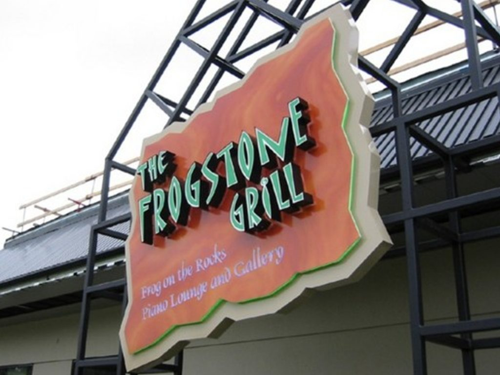 Frogstone grill channel letters