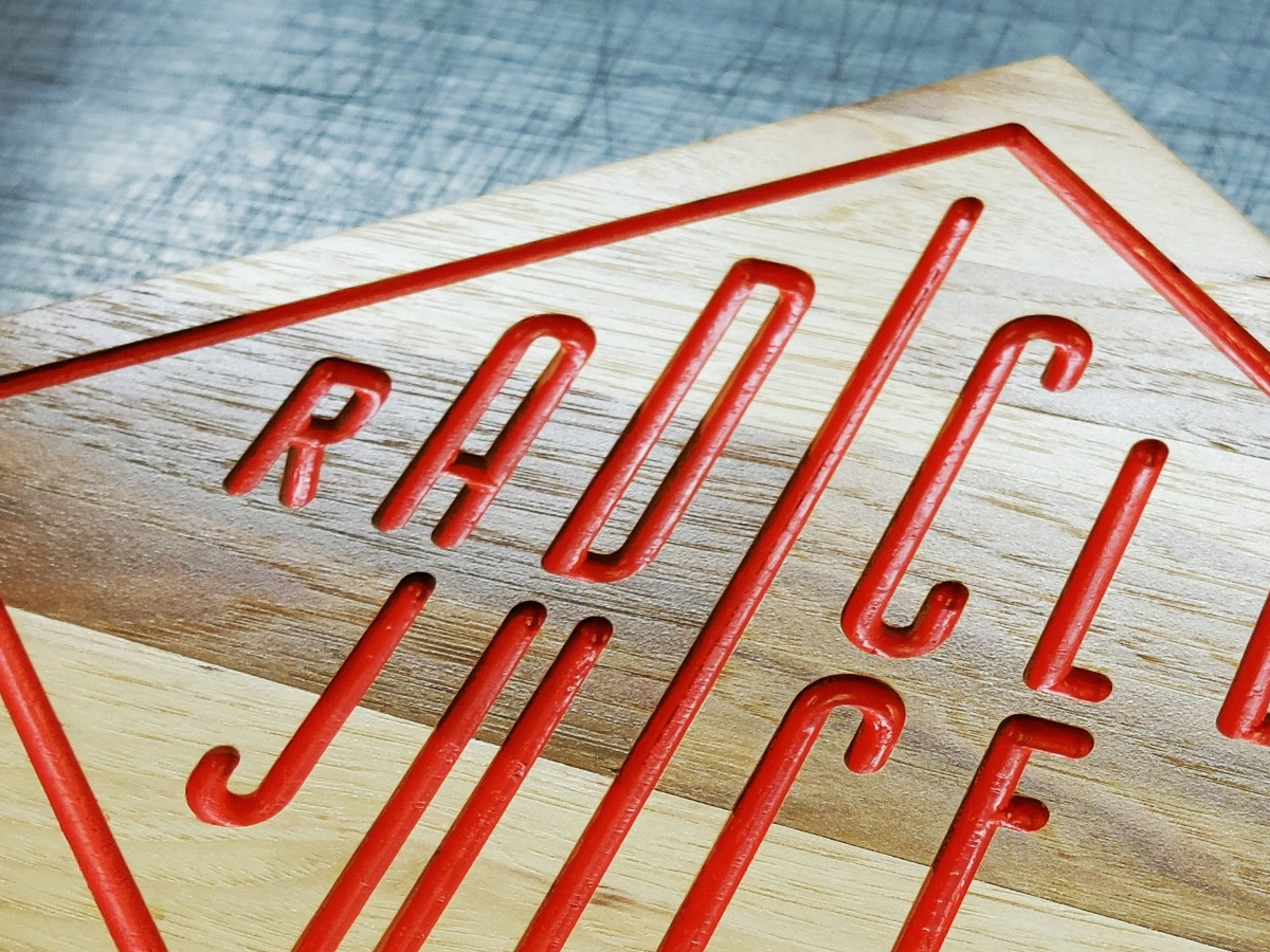Radical Juice Wood sign
