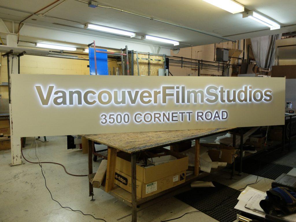 Vancouver Film Studios Freestanding Signage