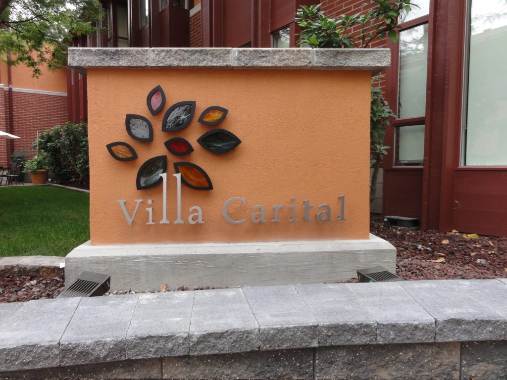 Villa Carital Freestanding Pylon Sign