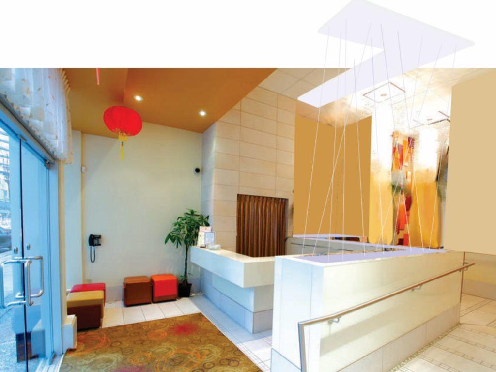 Kirin Restaurant Feature Lighting