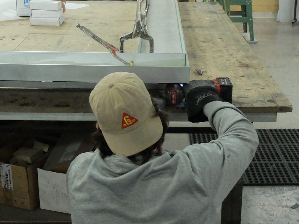 Breitling storefront fabrication