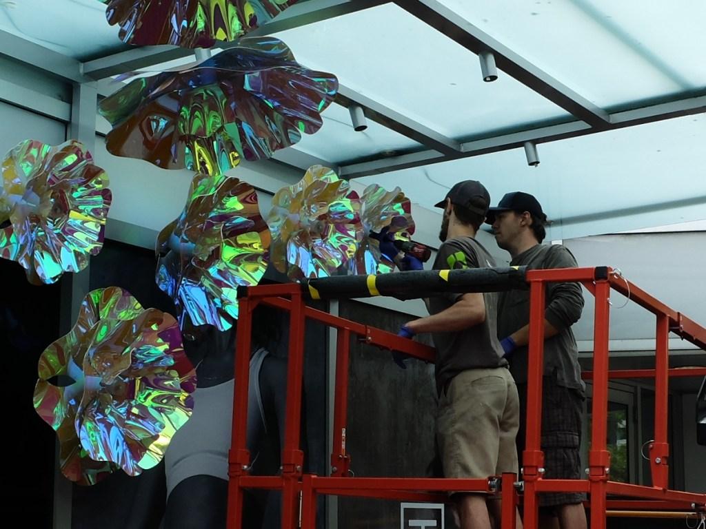 Oakridge Sales Centre Flowers Installation