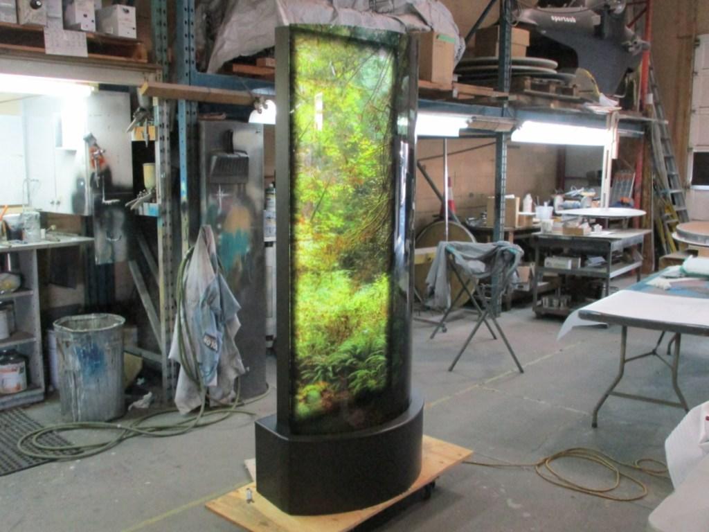 Karen Cooper Gallery Curved Photolucent on Illuminated Base